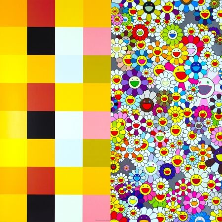 Lithograph Murakami - Acupuncture / Flowers (Checkers)