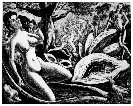 Etching Alejandro - Adam and Eve