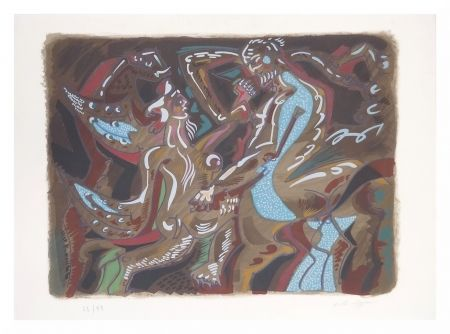 Lithograph Masson - Adam et Eve