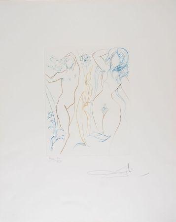 Drypoint Dali - Adam et Eve - Adam and Eve (suite Le Paradis Terrestre)
