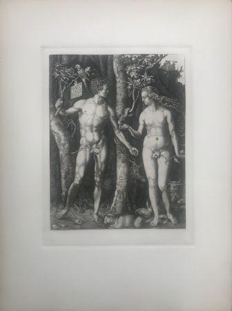 Engraving Durer - Adam & Eve