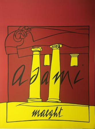 Lithograph Adami - ADAMI 1980 : Lithographie originale pour la Galerie Maeght.