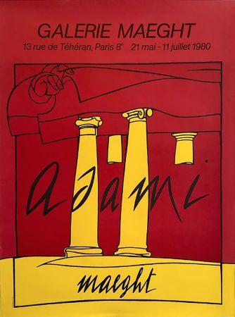 Lithograph Adami - ADAMI 80 : Affiche en lithographie originale pour l'exposition Galerie Maeght.