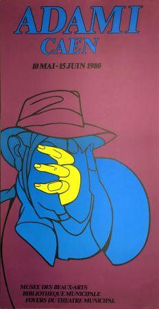 Lithograph Adami - ADAMI CAEN 1980 : Affiche en lithographie originale.
