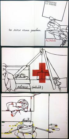 Illustrated Book Adami - ADAMI. Le voyage du dessin. DERRIÈRE LE MIROIR N° 214. Mai 1975.