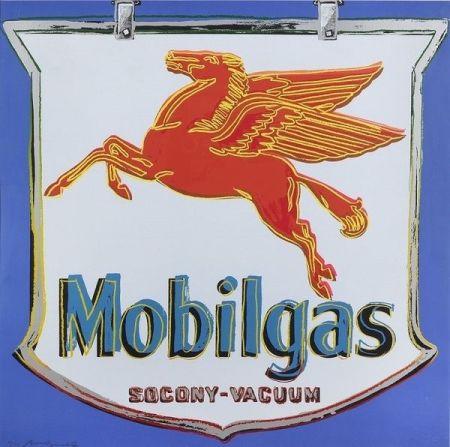 Screenprint Warhol - Ads: Mobilgas