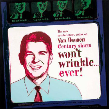 Screenprint Warhol - ADS: VAN HEUSEN (RONALD REAGAN) FS II.356