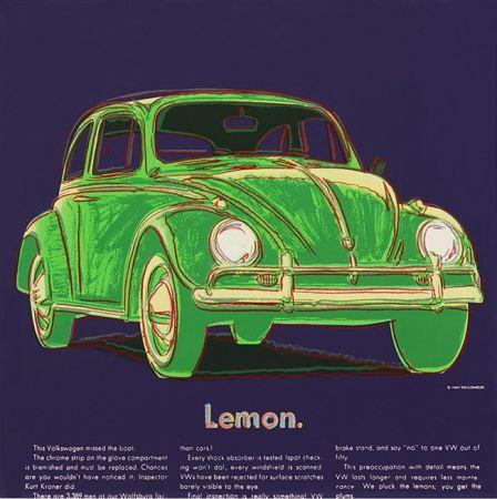 Screenprint Warhol - ADS: VOLKSWAGEN FS II.358
