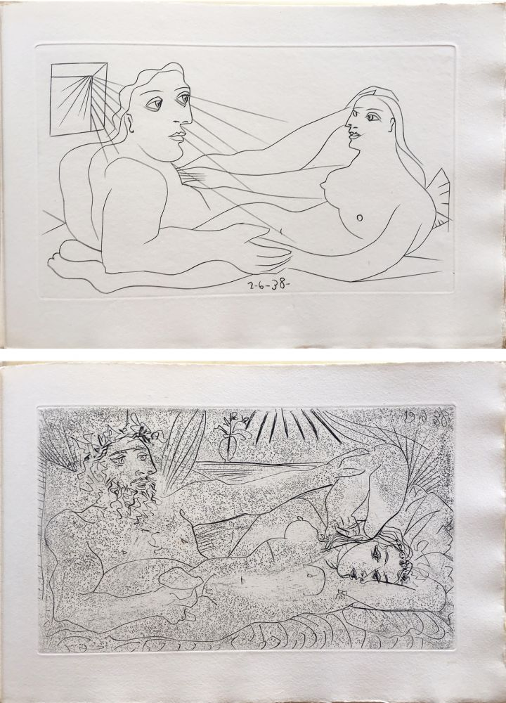 Illustrated Book Picasso - AFAT. Soixante-seize sonnets (1939).
