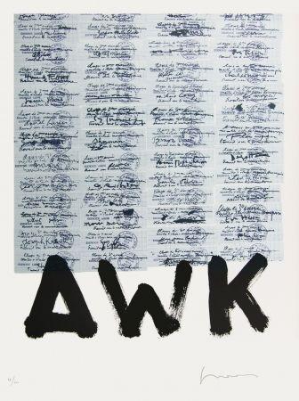 Lithograph Gasiorowski - AFF AVT N°1028