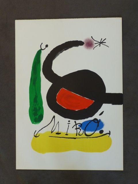 Lithograph Miró - Affiche avant la lettre pour DLM 164/165