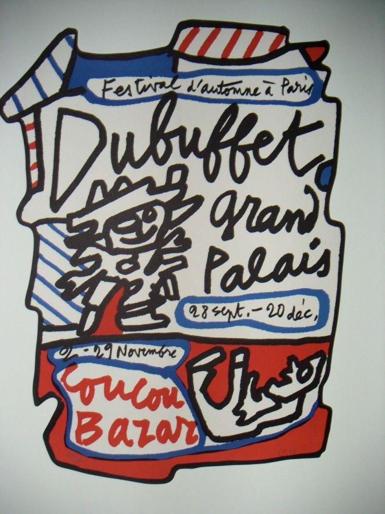 Lithograph Dubuffet - Affiche Coucou Bazar