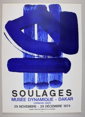 Lithograph Soulages - AFFICHE DAKAR