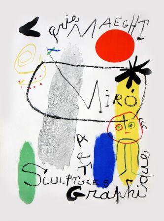 Lithograph Miró - Affiche d'Exposition Galerie Maeght