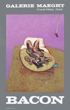 Poster Bacon - Affiche en lithographie