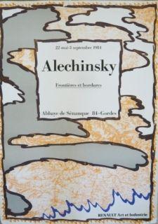 Poster Alechinsky - Affiche exposition Abbaye de Sénanque