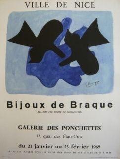 Poster Braque - Affiche exposition Bijoux de Braque