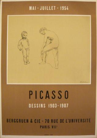 Poster Picasso - Affiche exposition dessins 1903-1907 galerie Berggruen