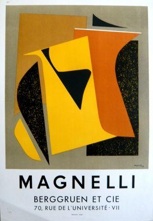 Lithograph Magnelli - Affiche exposition galerie Berggruen Mourlot