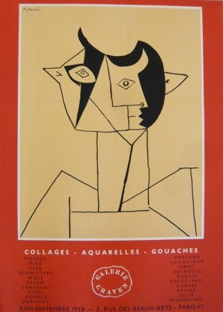 Poster Picasso - Affiche exposition galerie Graven