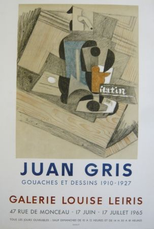 Poster Gris  - Affiche exposition  galerie Louise Leiris