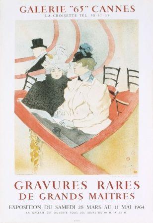Lithograph Toulouse-Lautrec - Affiche exposition Mourlot 1964