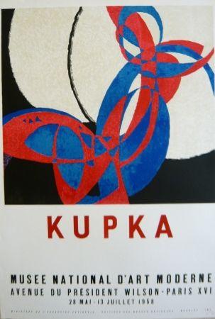 Lithograph Kupka - Affiche exposition Musée d'art moderne