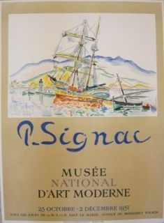 Poster Signac - Affiche exposition Musée d'art moderne
