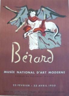 Lithograph Berard - Affiche exposition Musée d'art moderne Mourlot