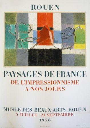 Lithograph Villon - Affiche exposition Musée des Beaux-Arts de Rouen