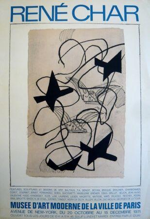 Poster Braque - Affiche exposition René Char