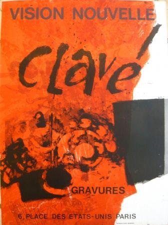 Poster Clavé - Affiche exposition Vision nouvelle