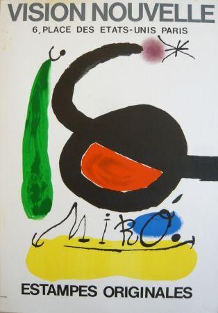 Poster Miró - Affiche exposition Vision nouvelle