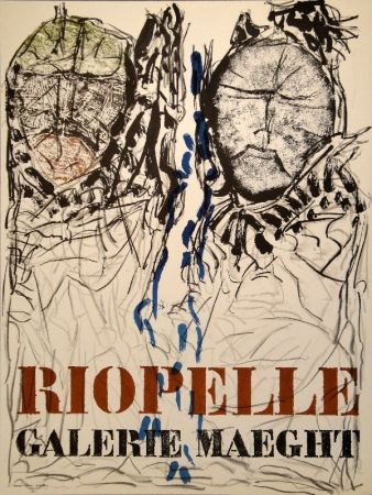 Poster Riopelle - Affiche Galerie Maeght