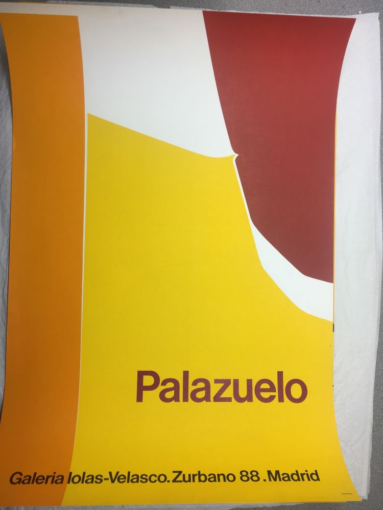 Poster Palazuelo - Affiche lithographique originale de la Galeria Iolas-Velasco, Madrid. Maeght 1963.