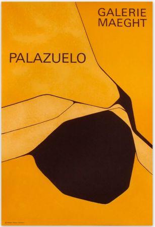 Poster Palazuelo - Affiche lithographique originale de la Galerie Maeght 1963.