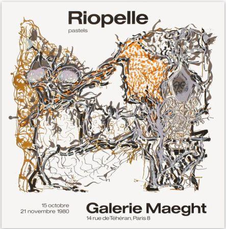 Poster Riopelle - Affiche lithographique originale de la Galerie Maeght 1980.