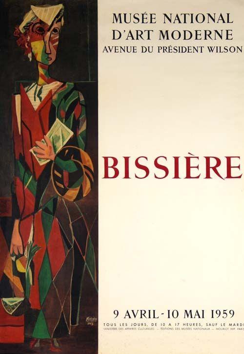 Lithograph Bissiere - Affiche Musee D'art Moderne de Paris