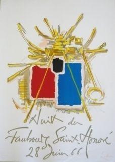 Poster Mathieu - Affiche Nuit du Faubourg Saint-Honoré 28 juin 66