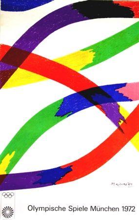 Lithograph Dorazio - Affiche   Originale Jeux Olympiques Munich 1972