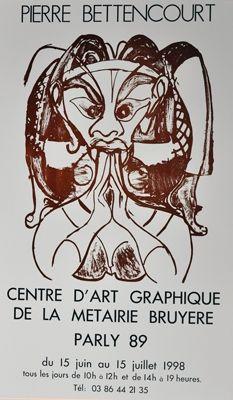 Poster Bettencourt - Affiche P.B.