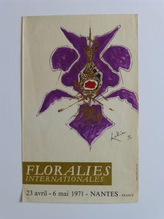 Poster Mathieu - Affiche pour les floralies de Nantes 1971