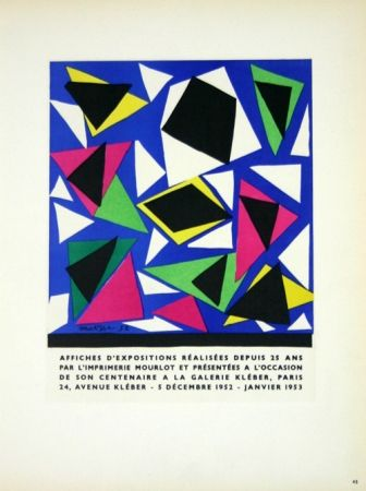 Lithograph Matisse - Affiches D'Expositions