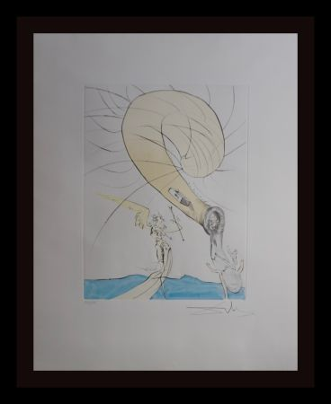 Etching Dali - After 50 Years of Surrealism Freud with Snail-Head