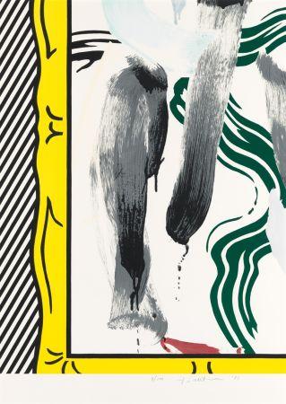 Lithograph Lichtenstein - Against Apartheid
