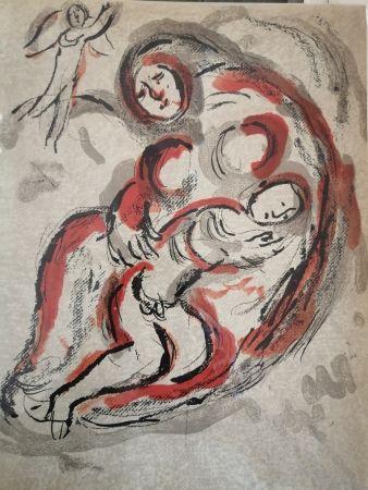 Lithograph Chagall - Agar dans le Désert