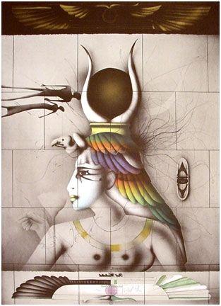 Lithograph Wunderlich - Aida