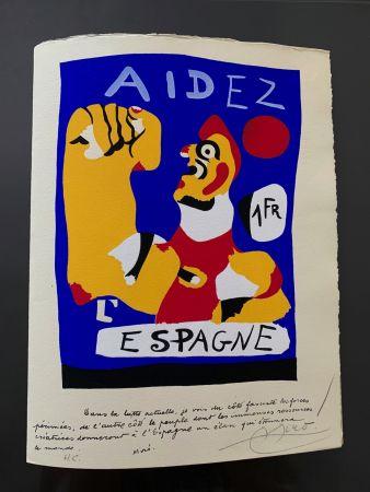 Pochoir Miró - Aidez l'Espagne