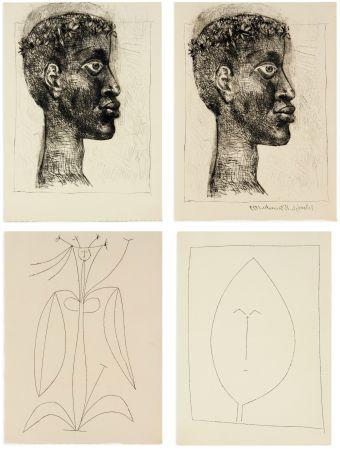 Illustrated Book Picasso - Aimé Césaire : CORPS PERDU. 32 gravures + suite sur Japon (1950)