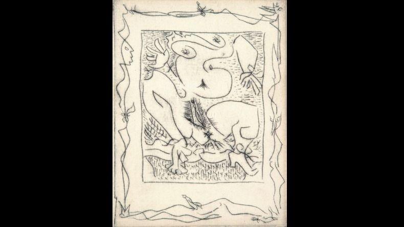 Illustrated Book Masson - AINSI DE SUITE (Pierre-André Benoit. 1960). 6 gravures érotiques.